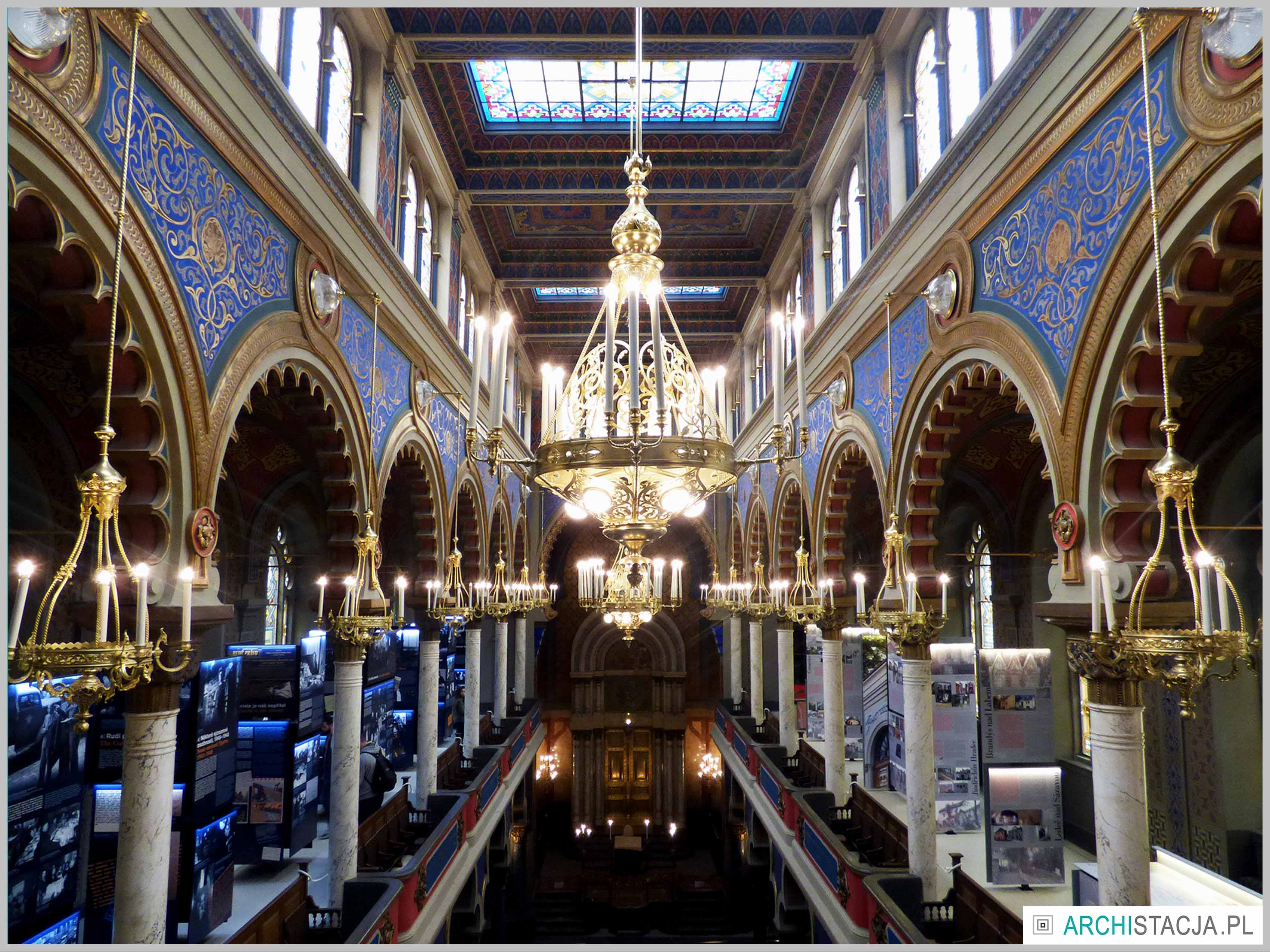 Jeruzalemska Synagoga wnętrze