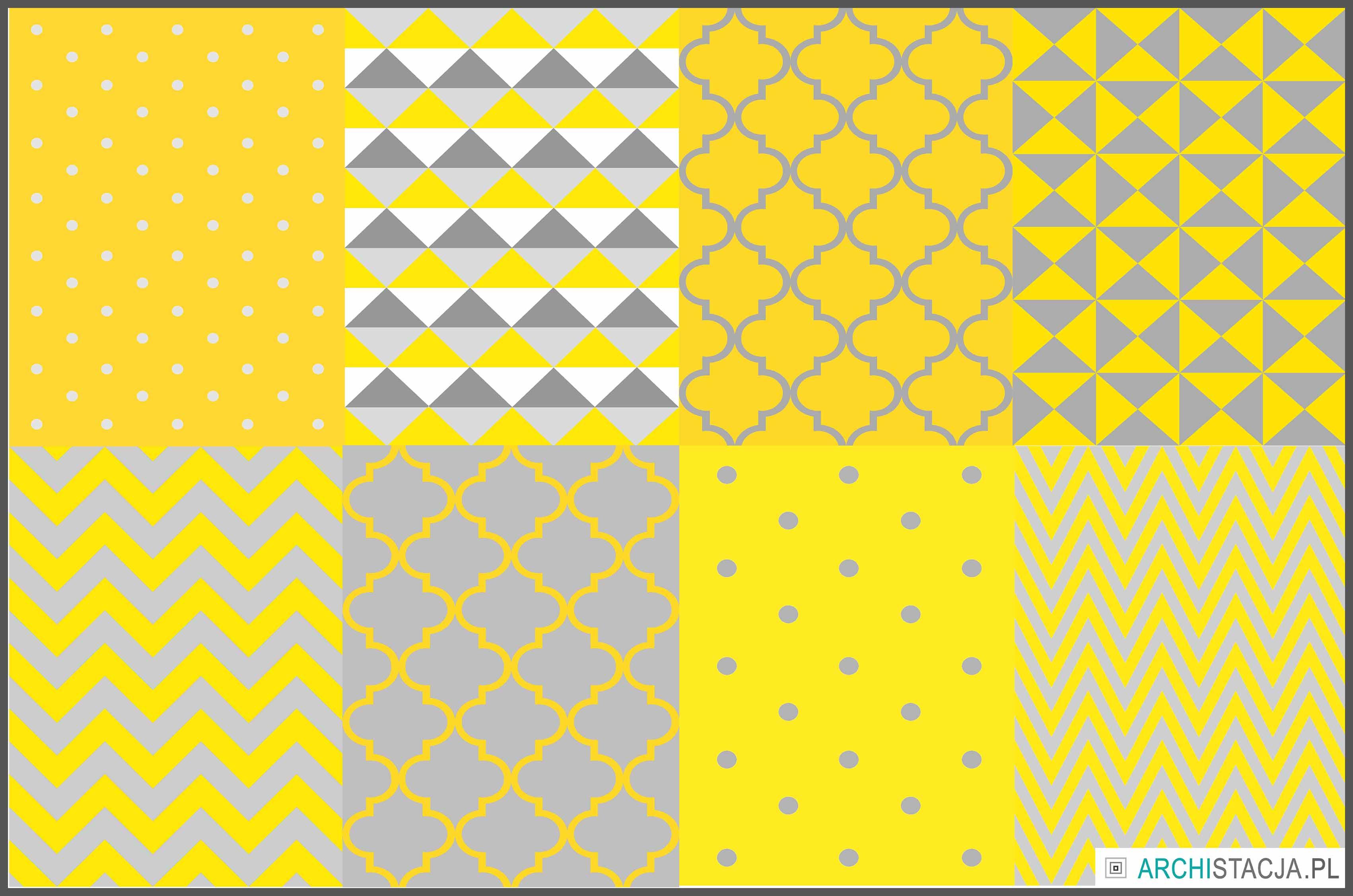 grafiki żółto szare