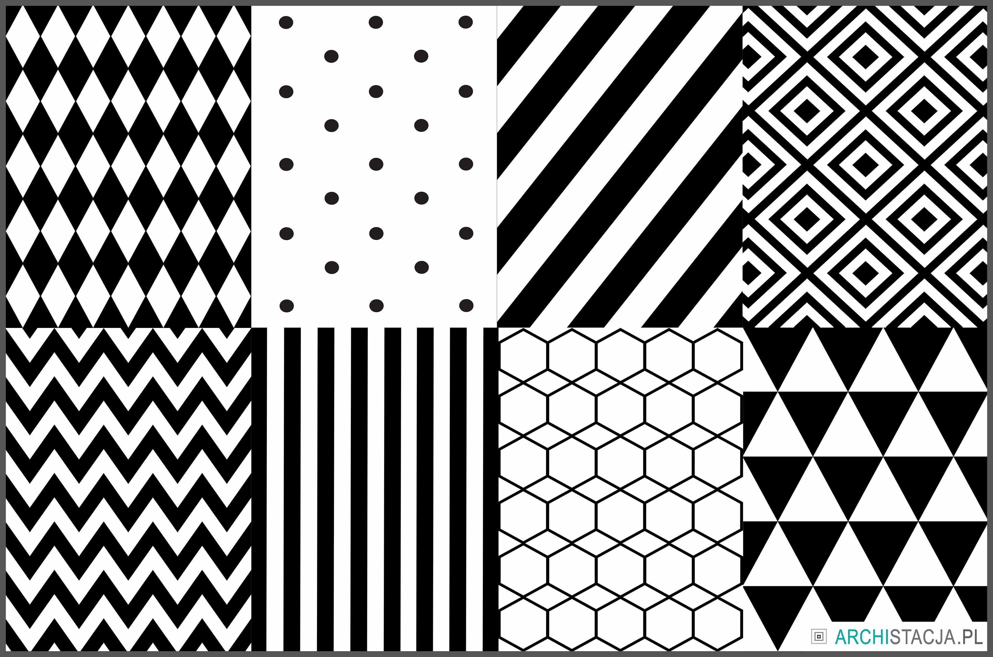 grafiki czarno białe