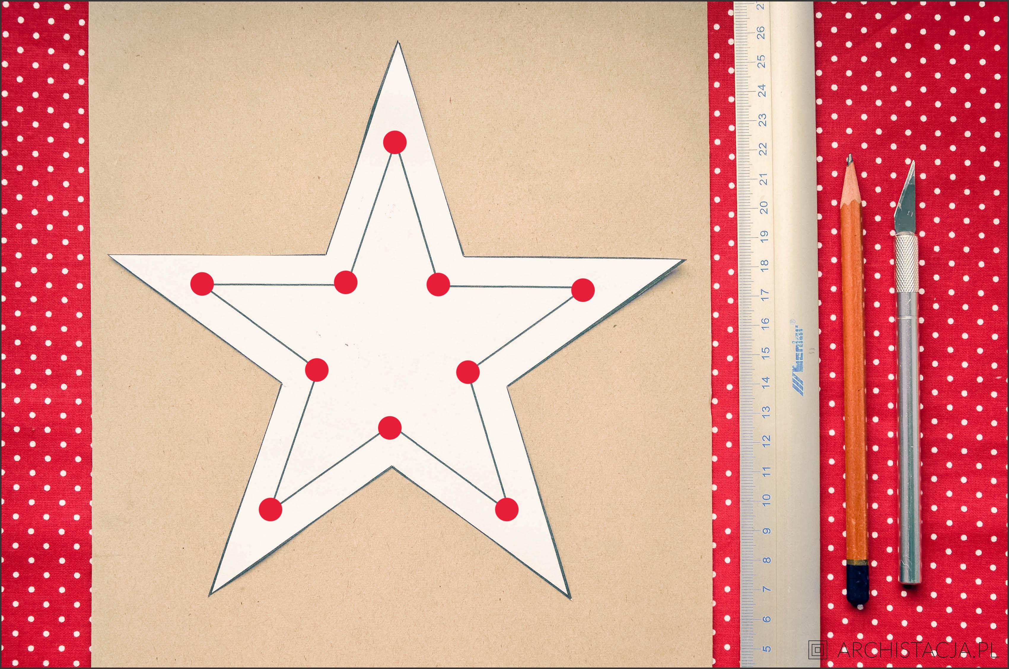 gwiazda ze sznurka