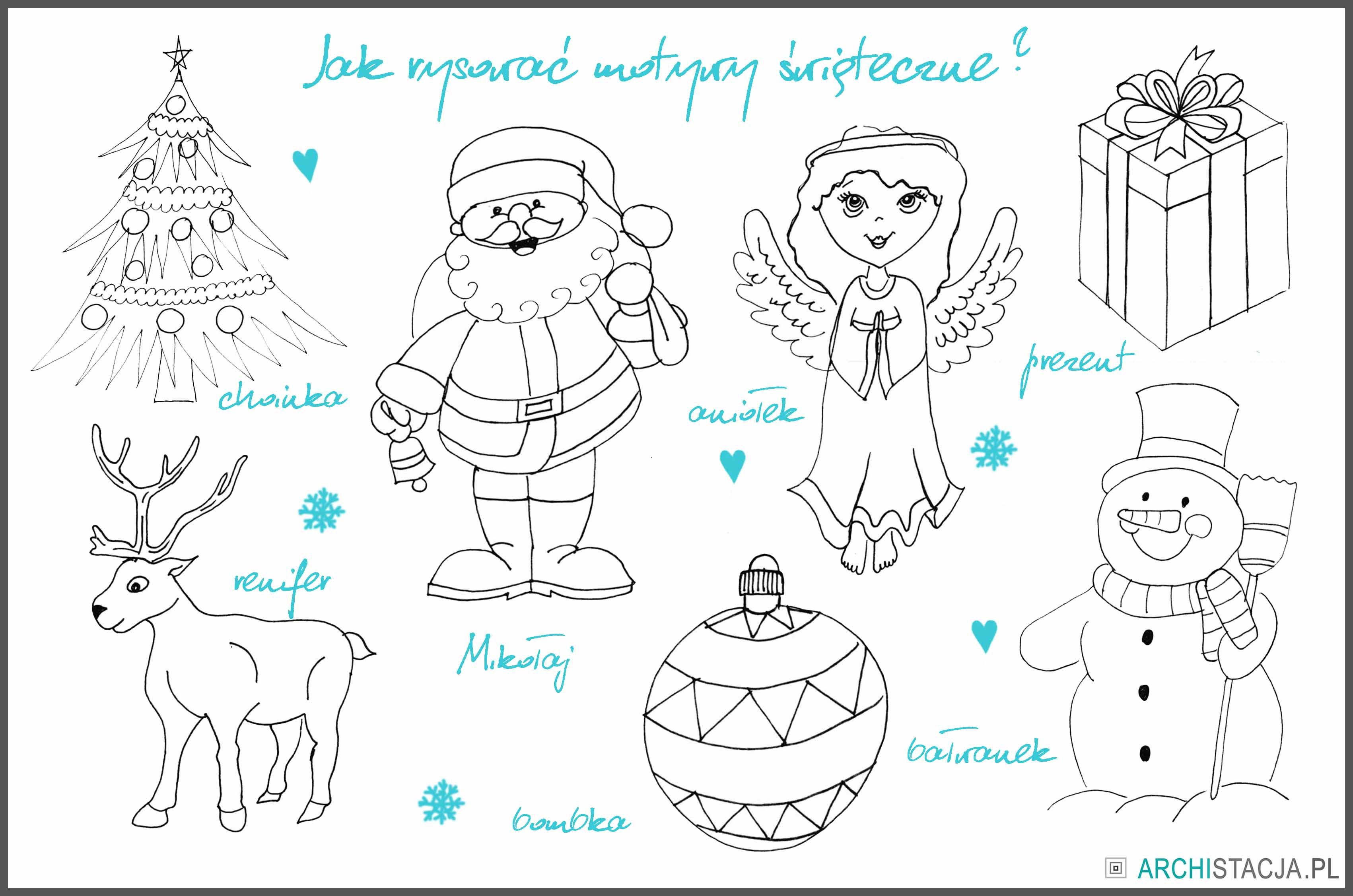 ŚWIĄTECZNA STACJA - jak łatwo narysować motywy świąteczne?