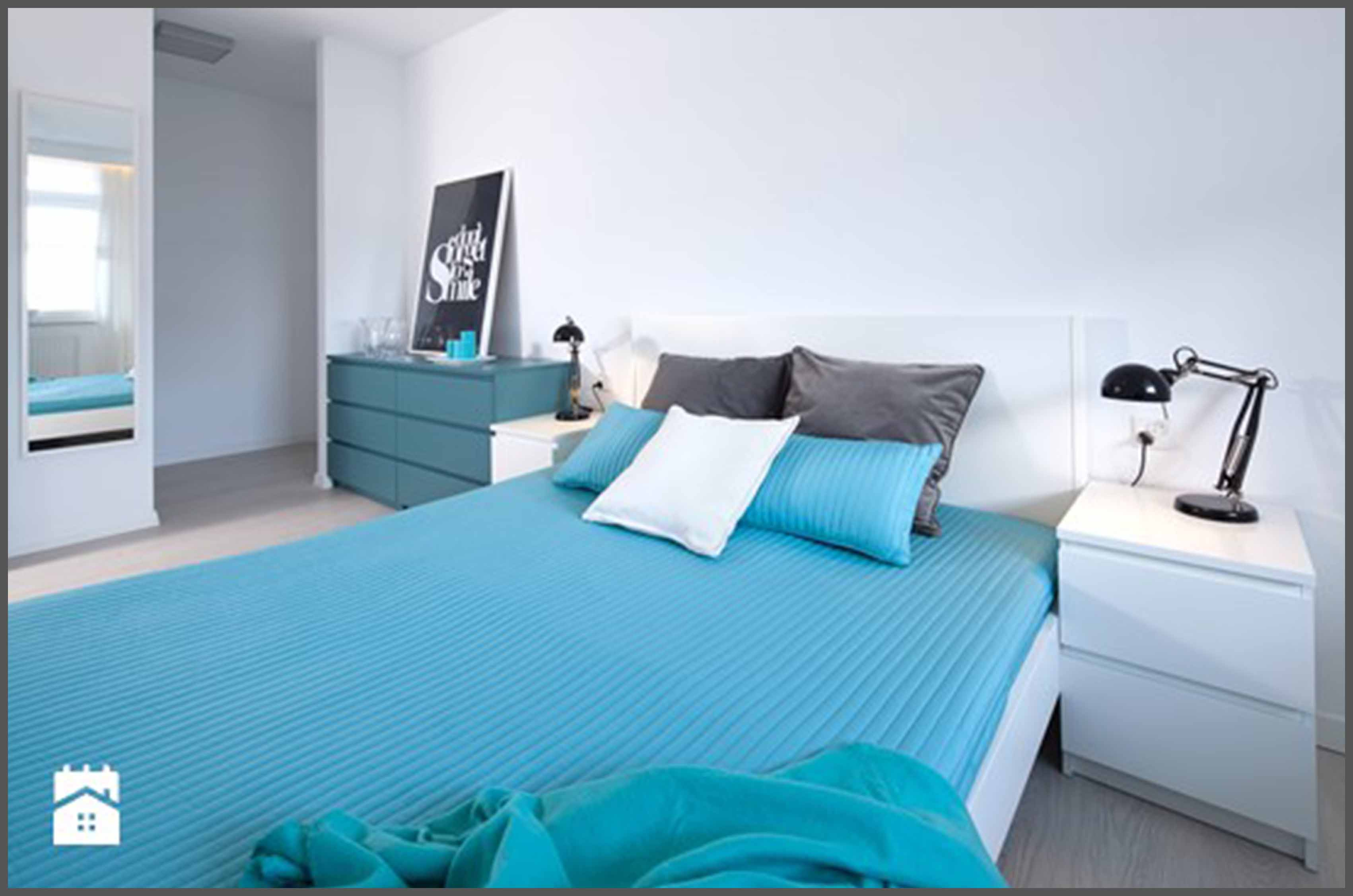 Fototapeta z palmą w sypialni - metamorfoza pokoju ARCHISTACJA.PL