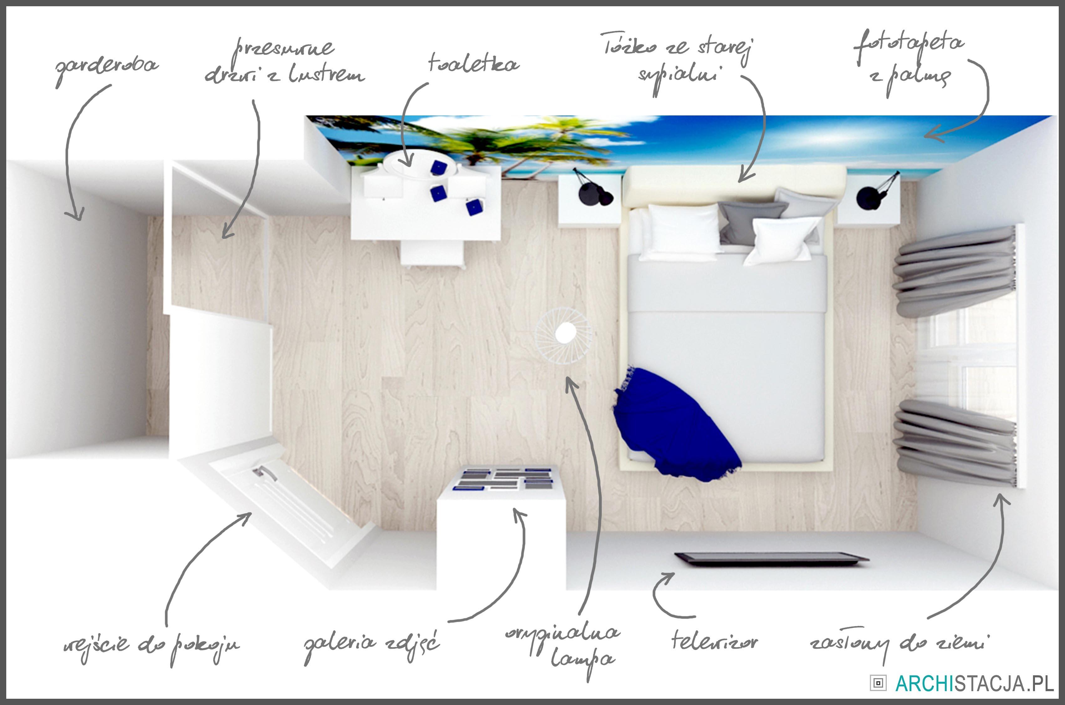 STACJA METAMORFOZA – sypialnia z garderobą #4