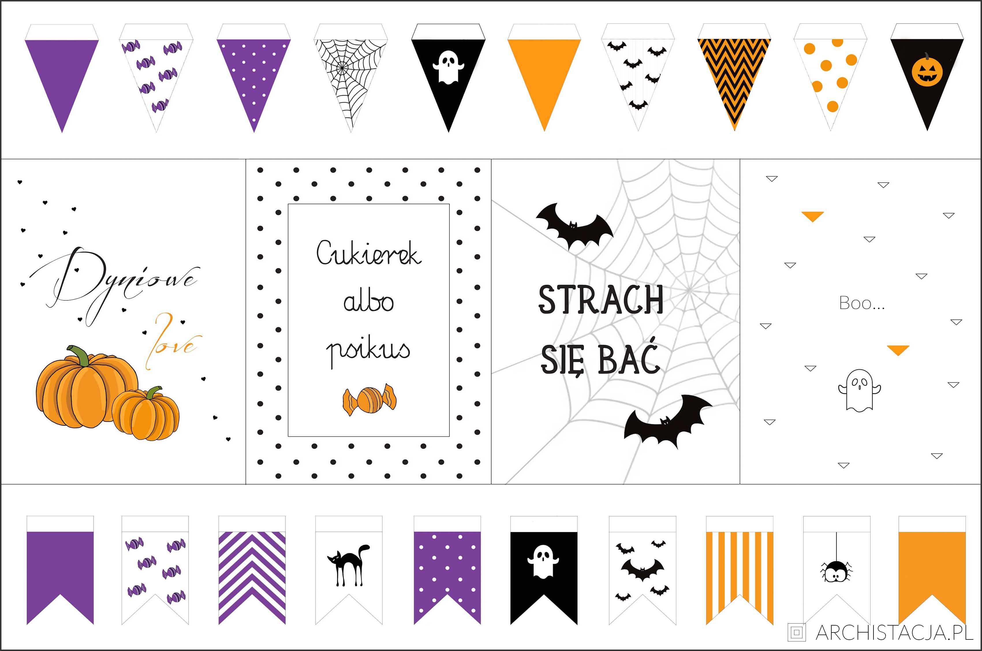 Dekoracje Na Halloween Do Druku Archistacjapl