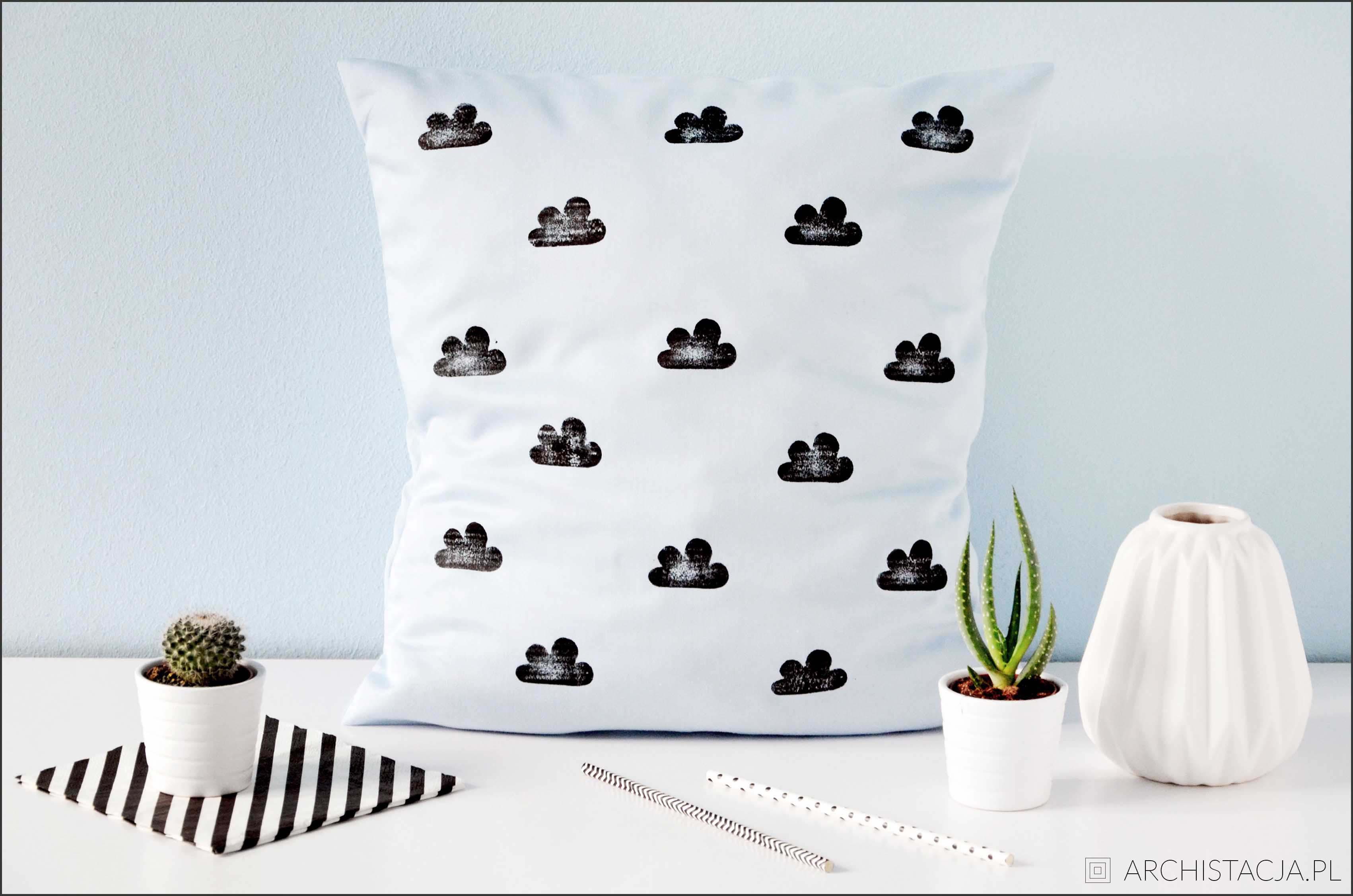 stemplowane poduszki