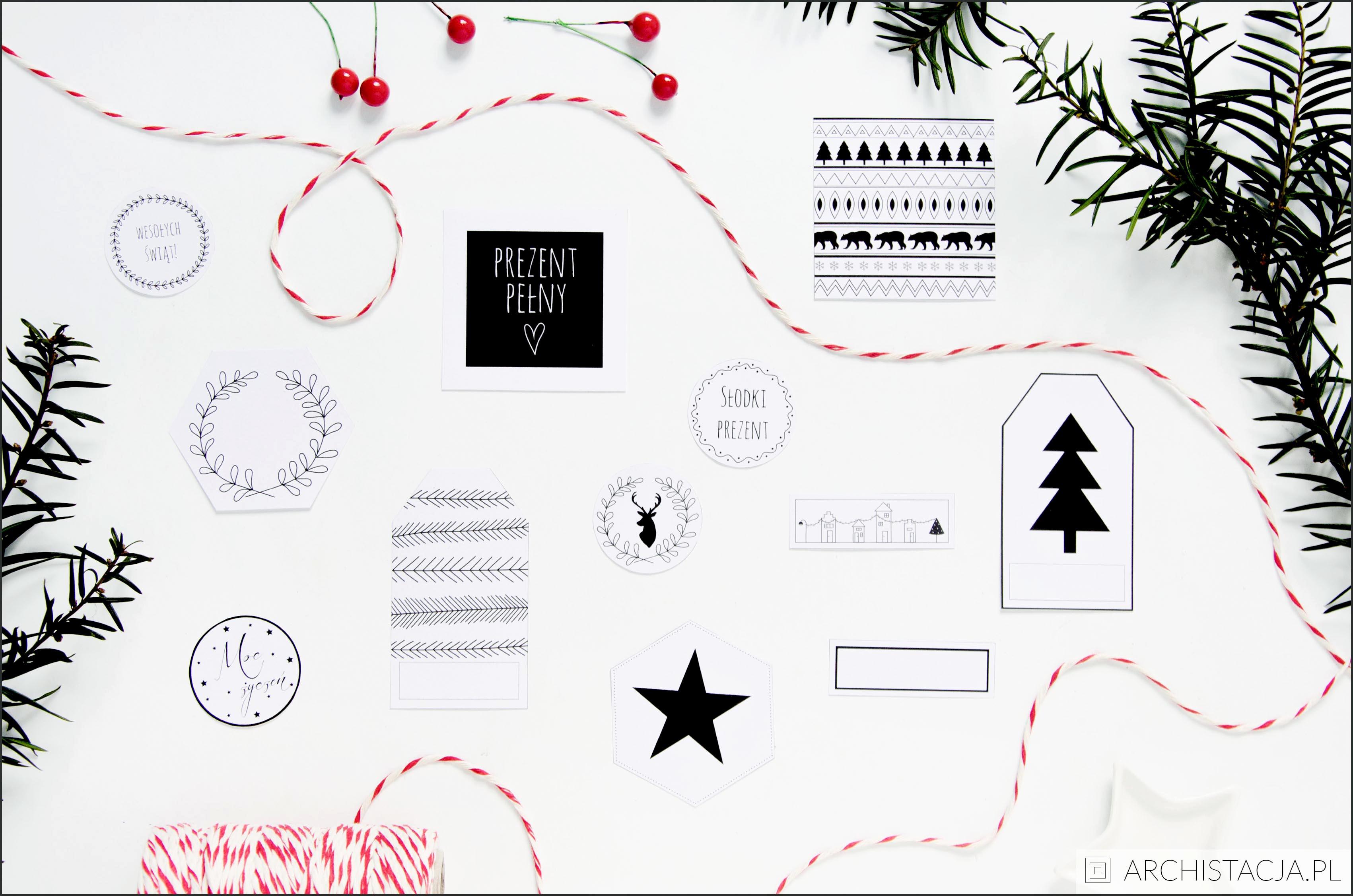 Etykietki do prezentów