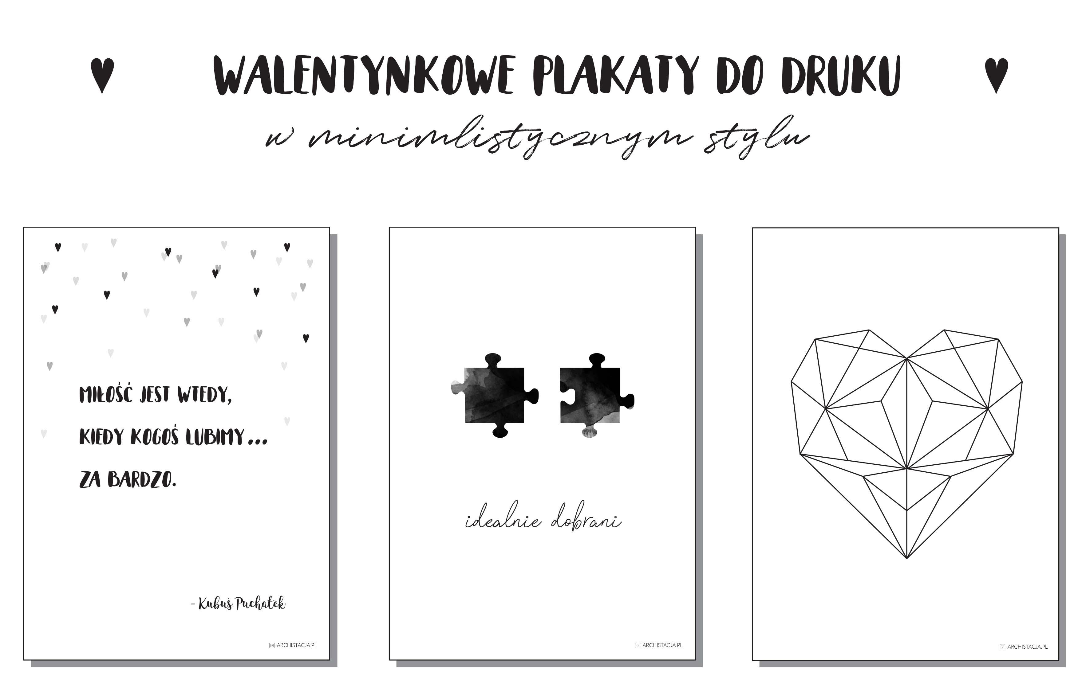 Walentynkowe Plakaty Do Druku Archistacjapl