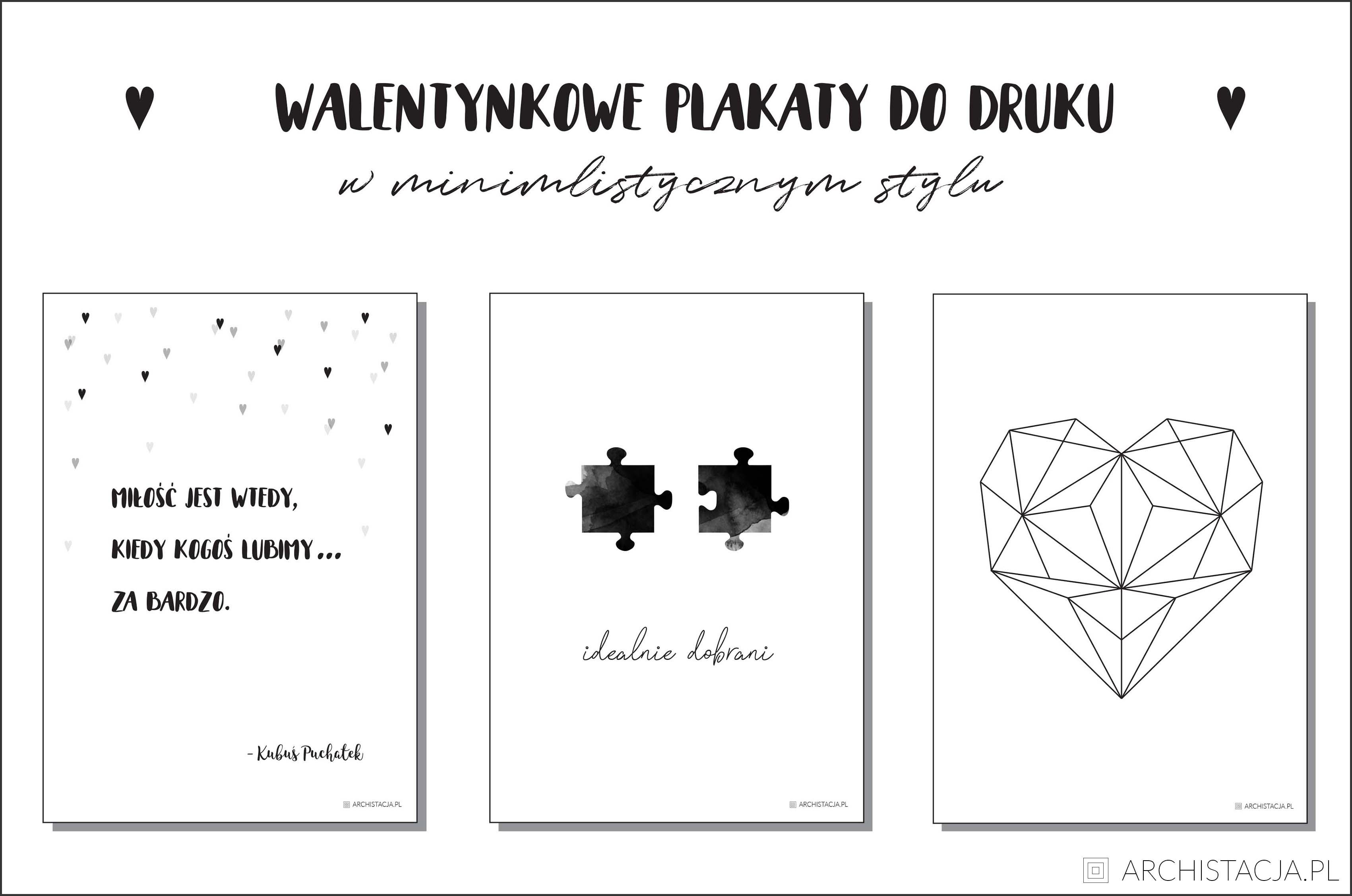 Walentynkowe plakaty DO DRUKU