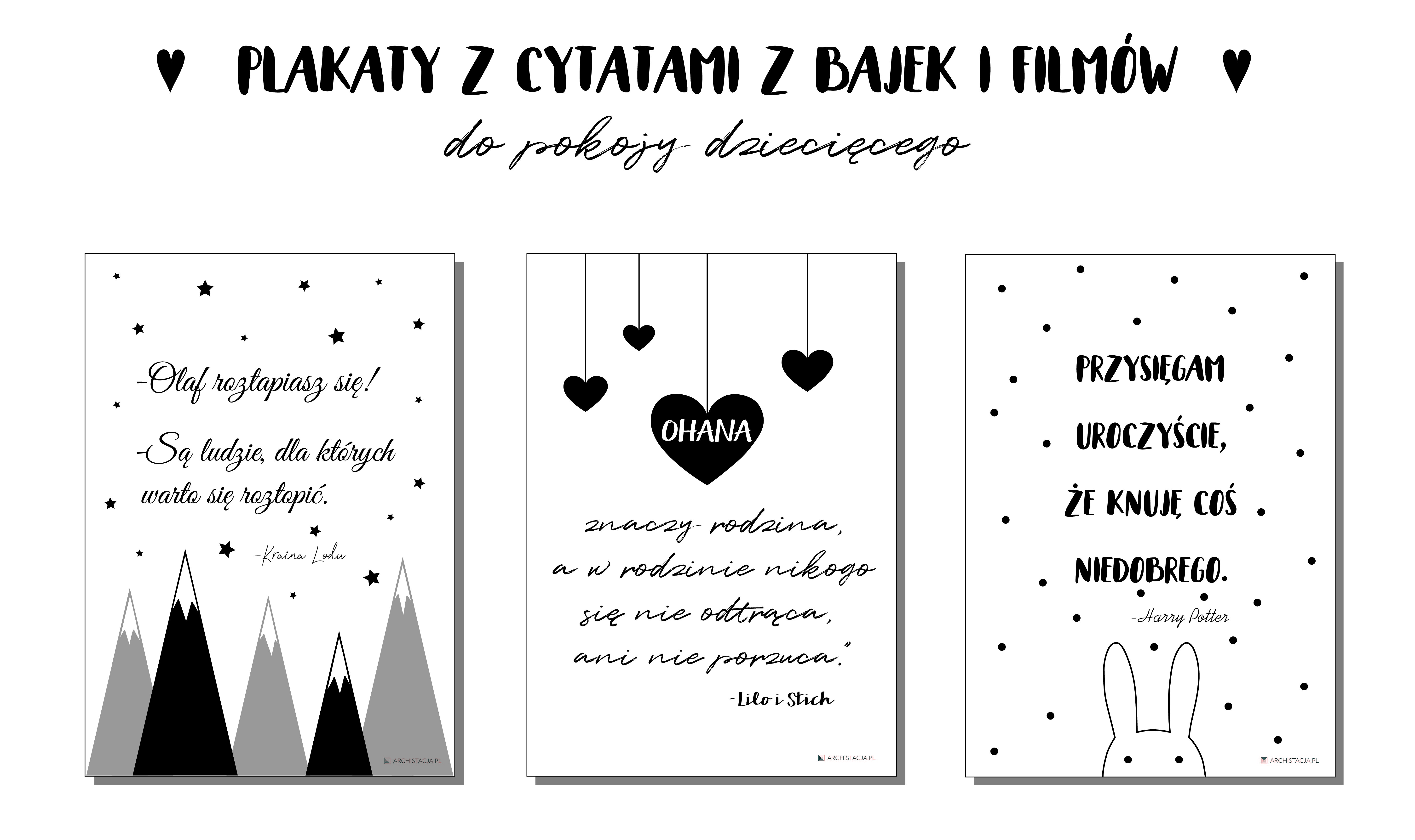 Plakaty Z Cytatami Z Bajek Do Druku Archistacjapl