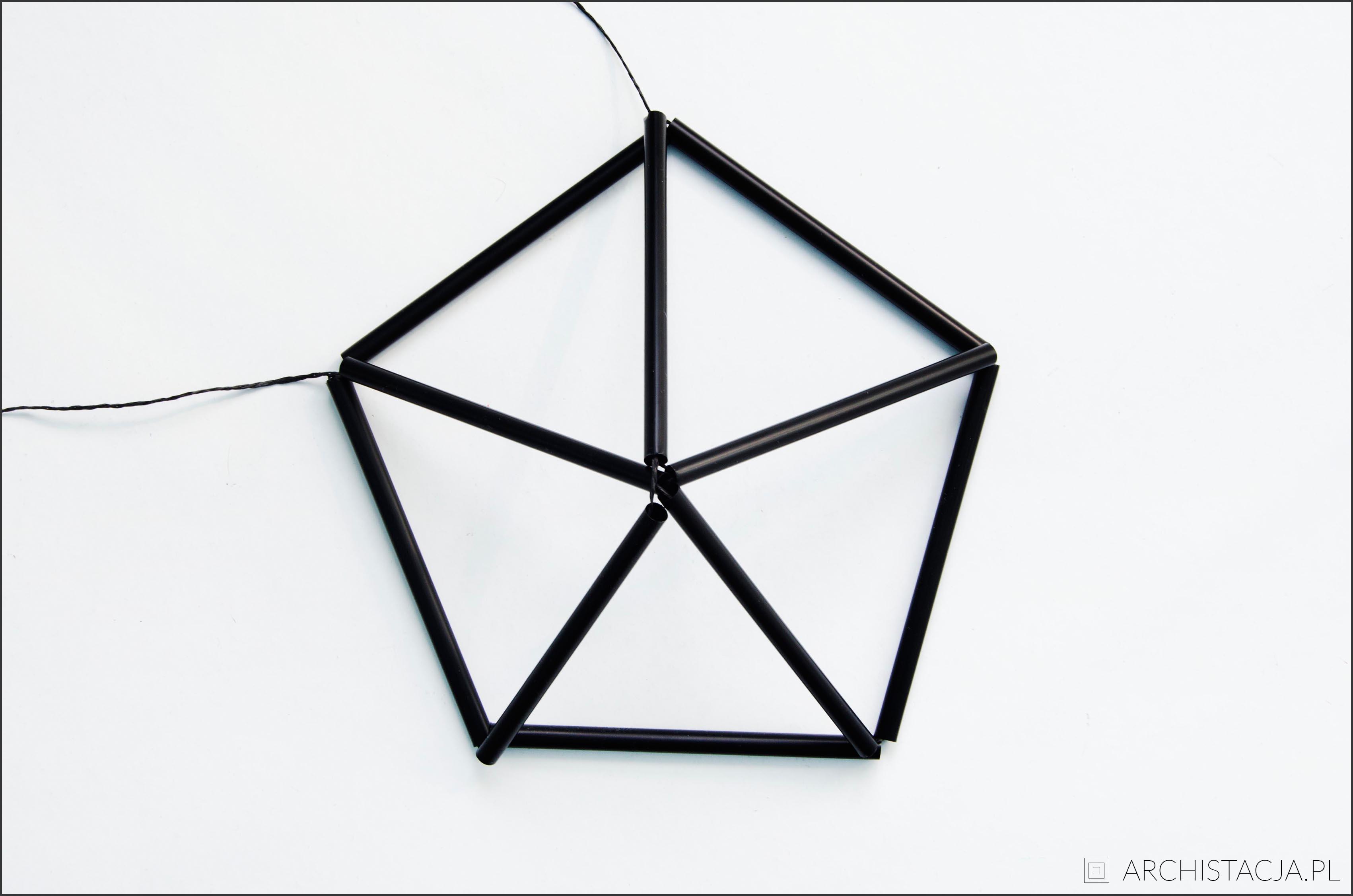 geometryczna lampa DIY
