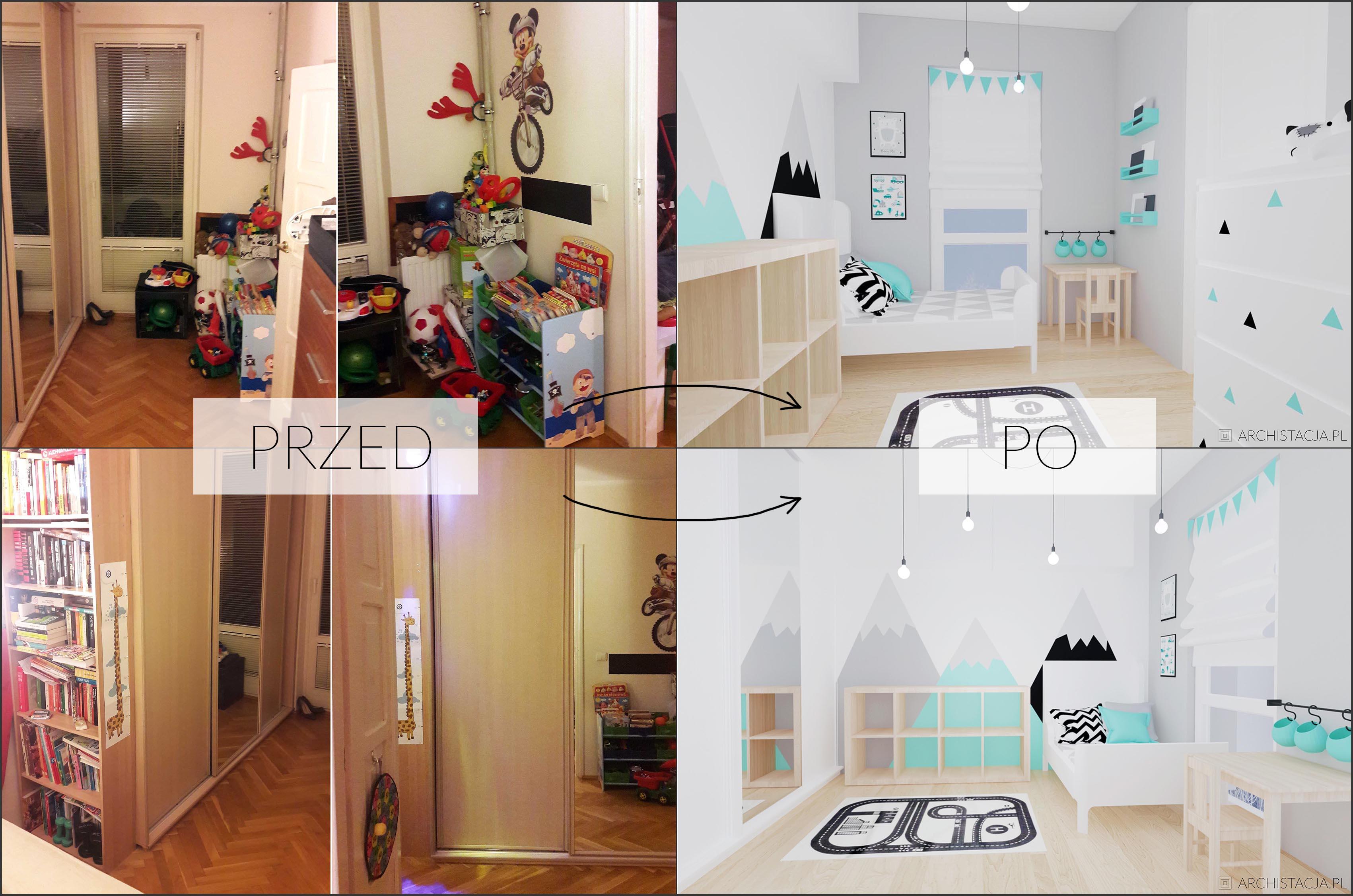 Mały Pokój Chłopca Metamorfoza Archistacjapl