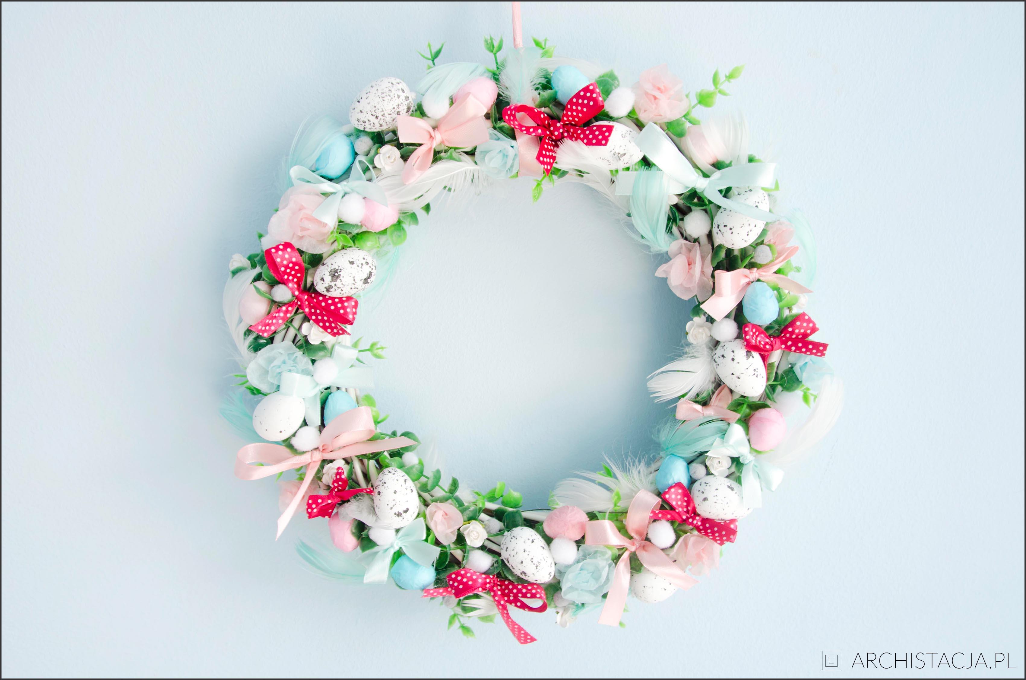 Picture Of Christmas Decorations Wielkanocny Wianek Diy Archistacja Pl