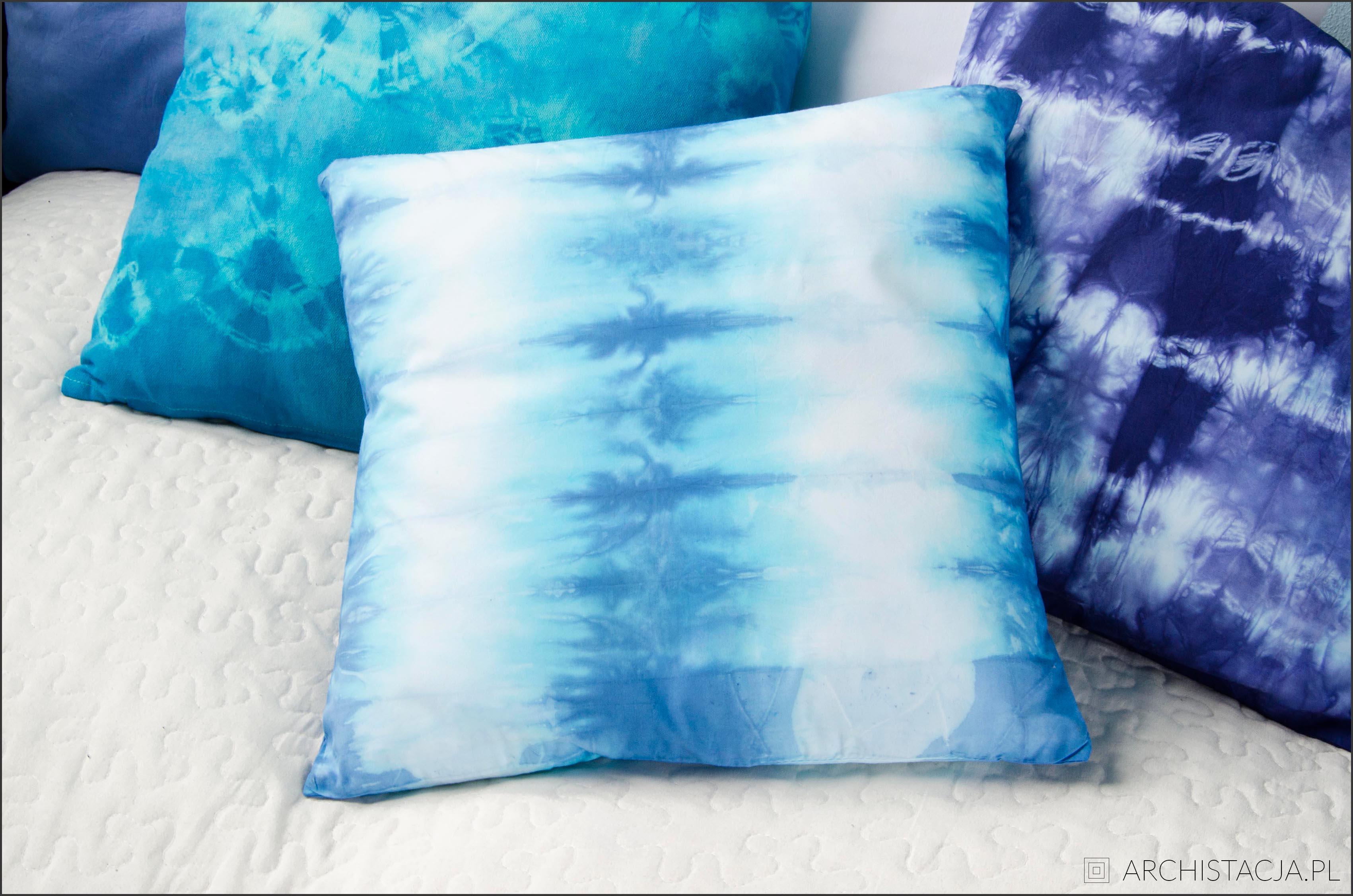 farbowane poduszki