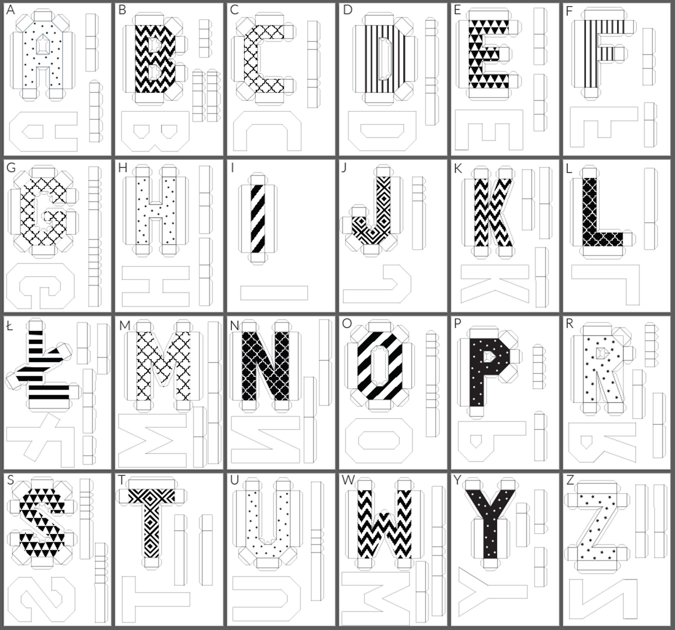 literki do druku