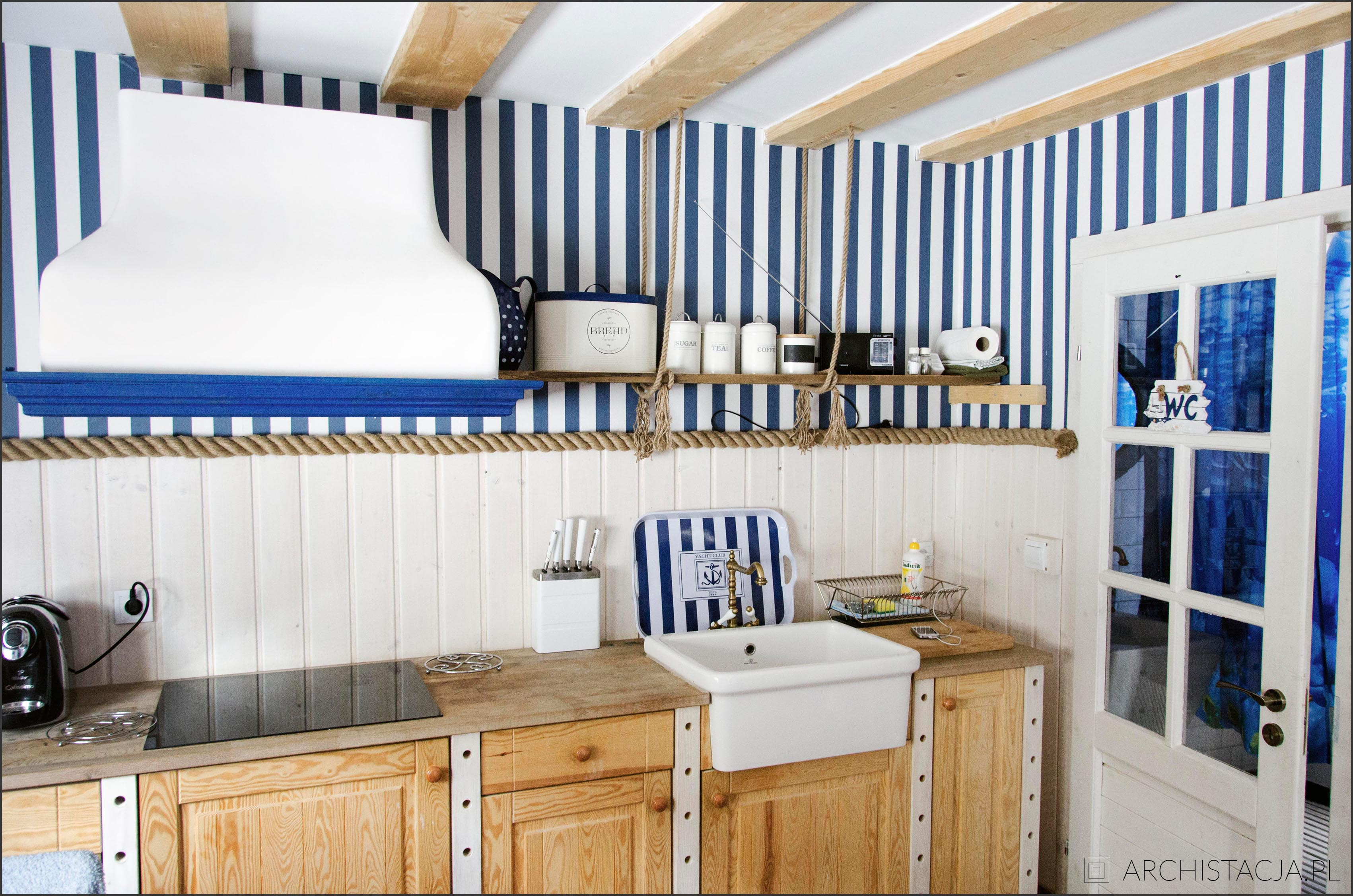 WNĘTRZE Z POMYSŁEM - domek w stylu marynarskim