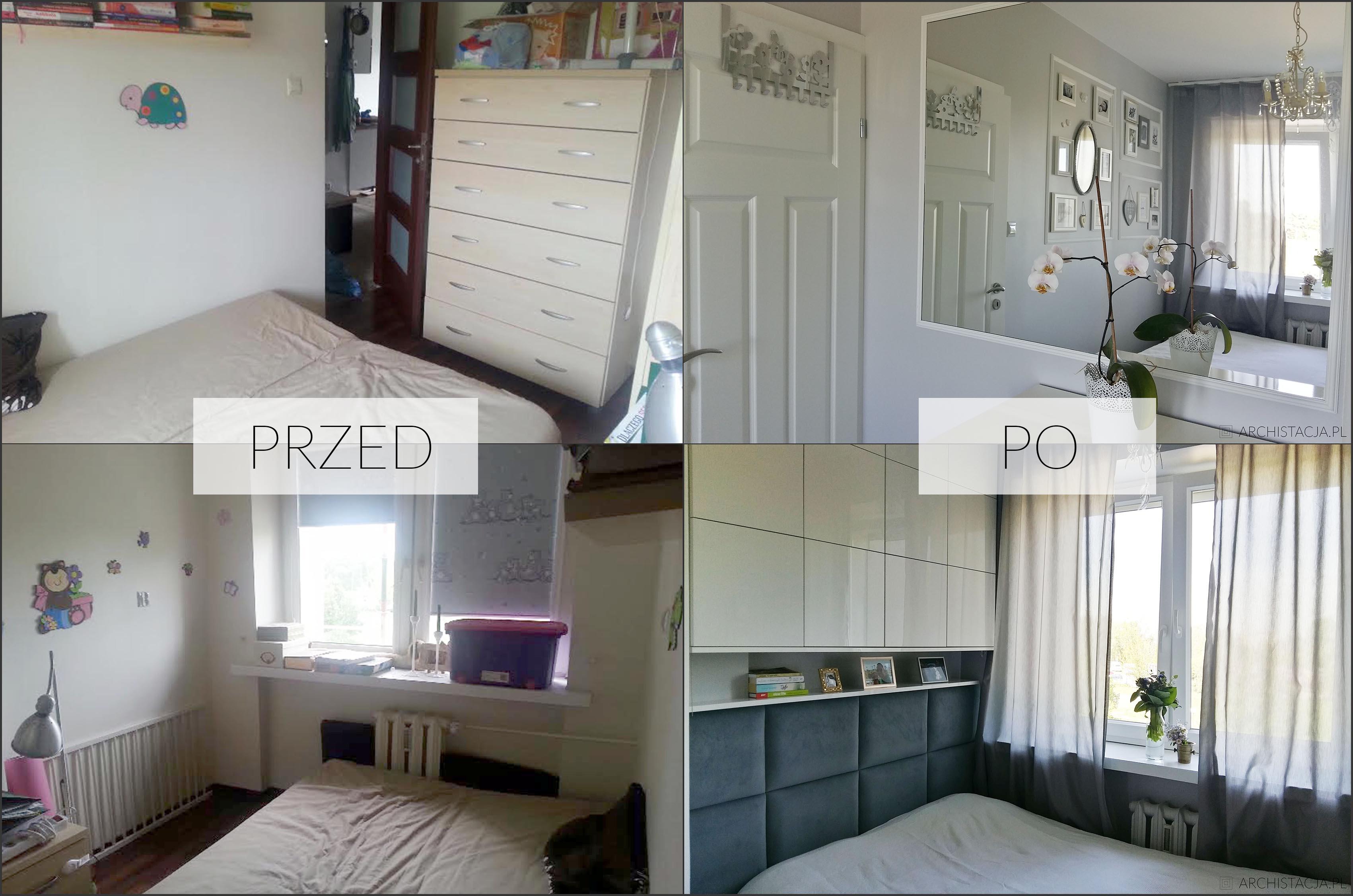 Mała Sypialnia Po Metamorfozie Archistacjapl