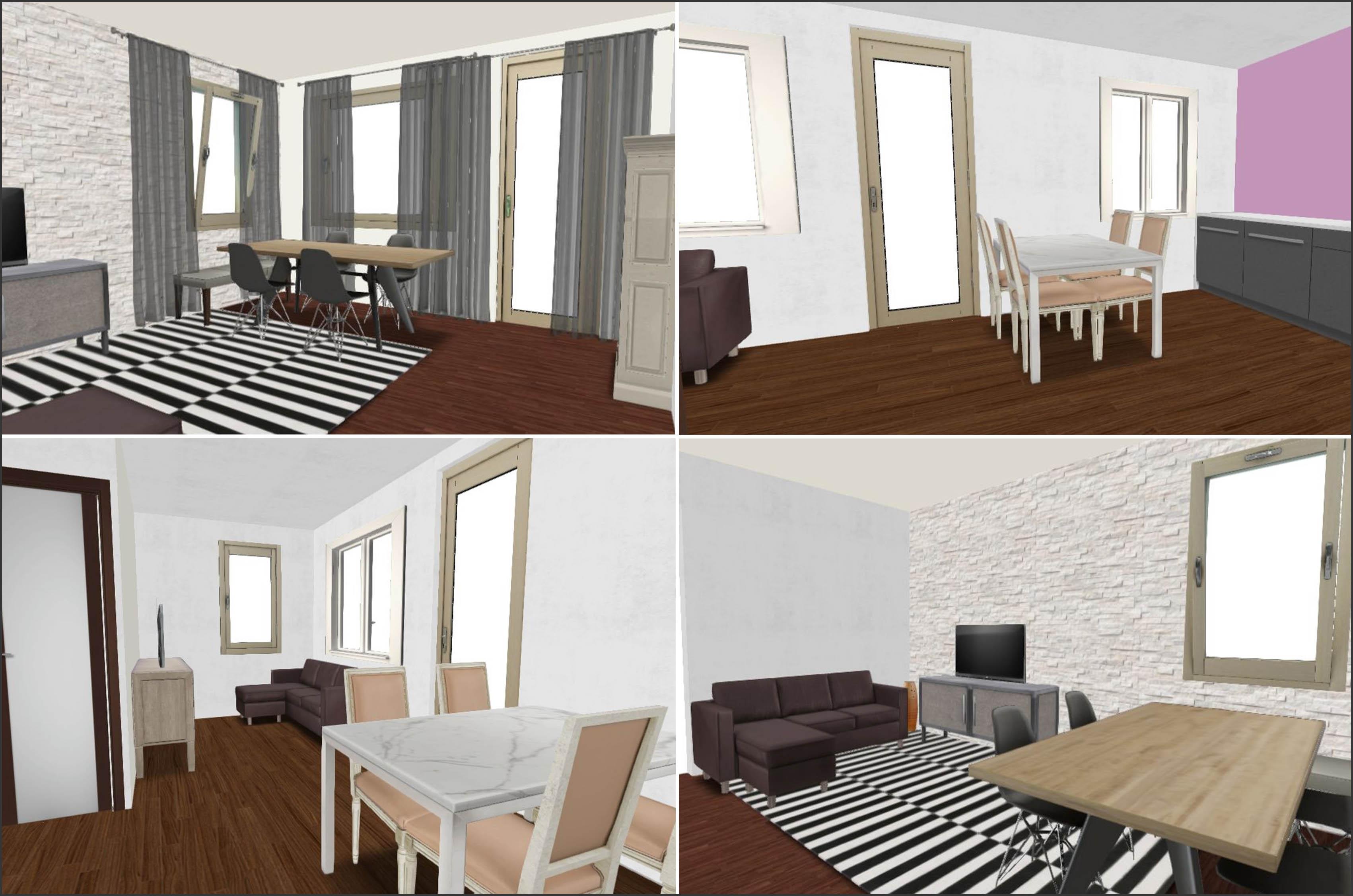 salon z sypialnią