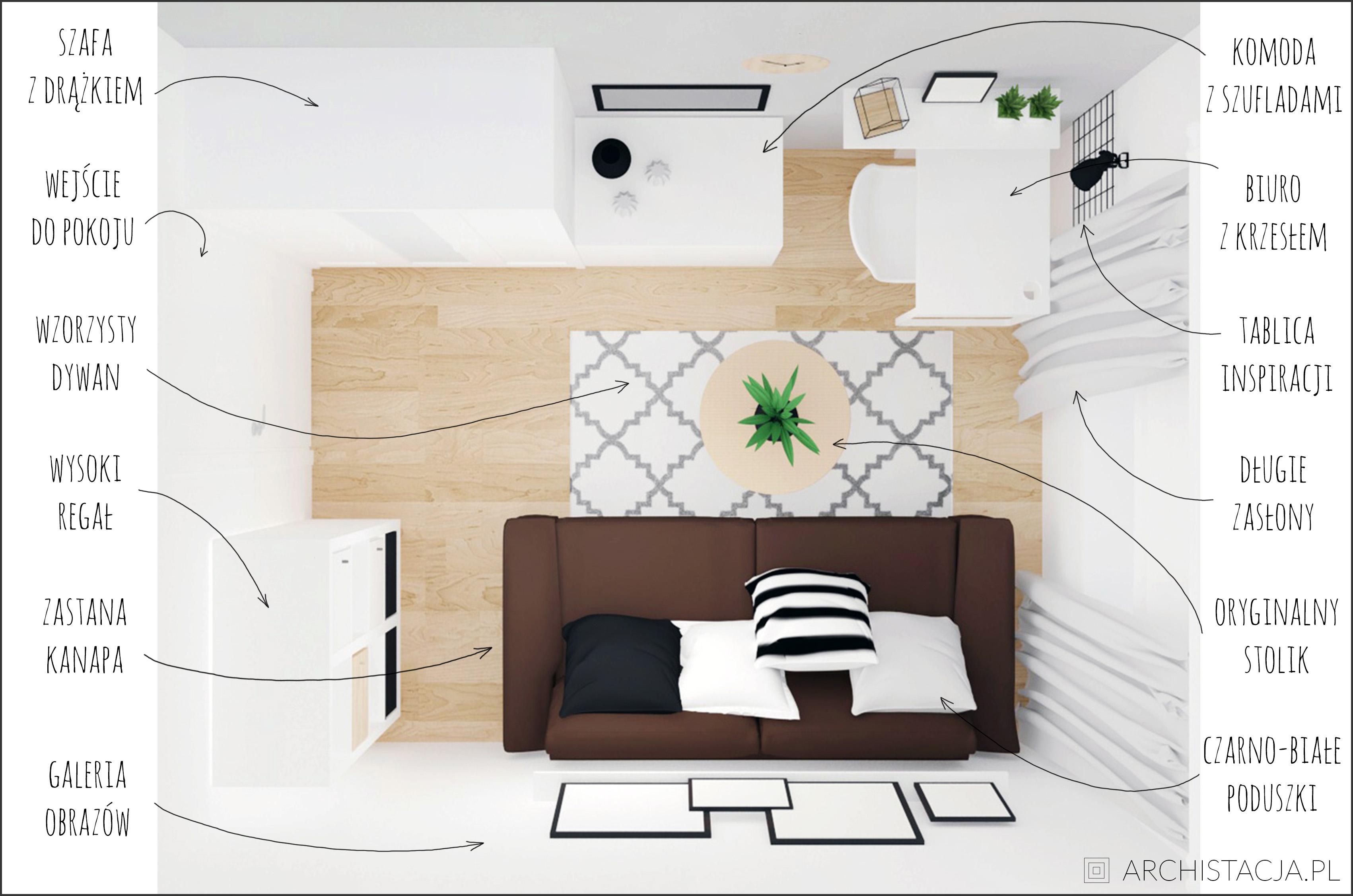 pokój w stylu minimalistycznym