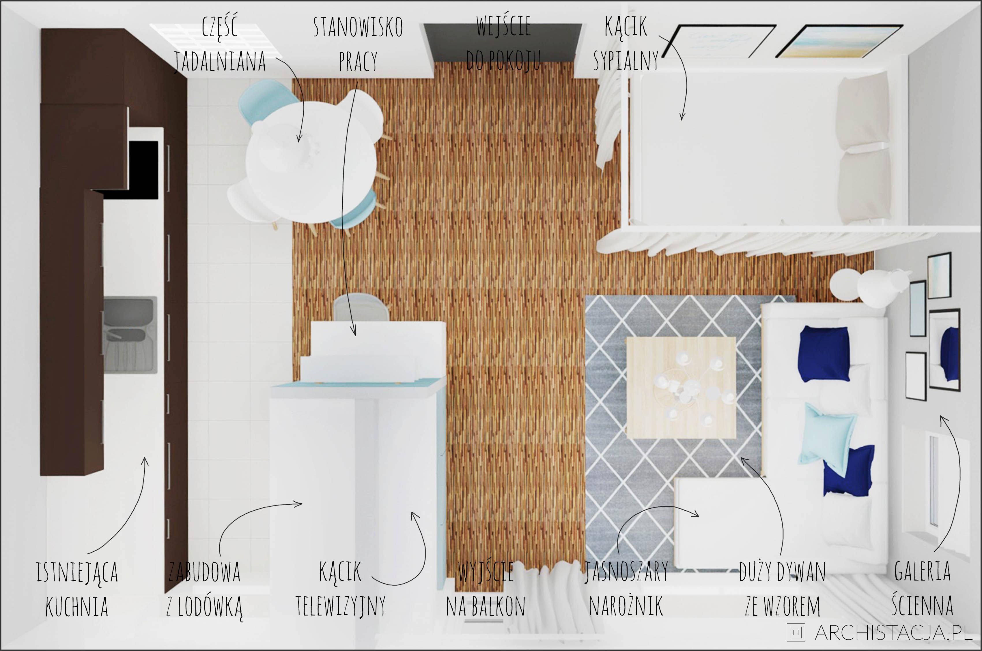 Salon Z Sypialnią Metamorfoza Archistacjapl