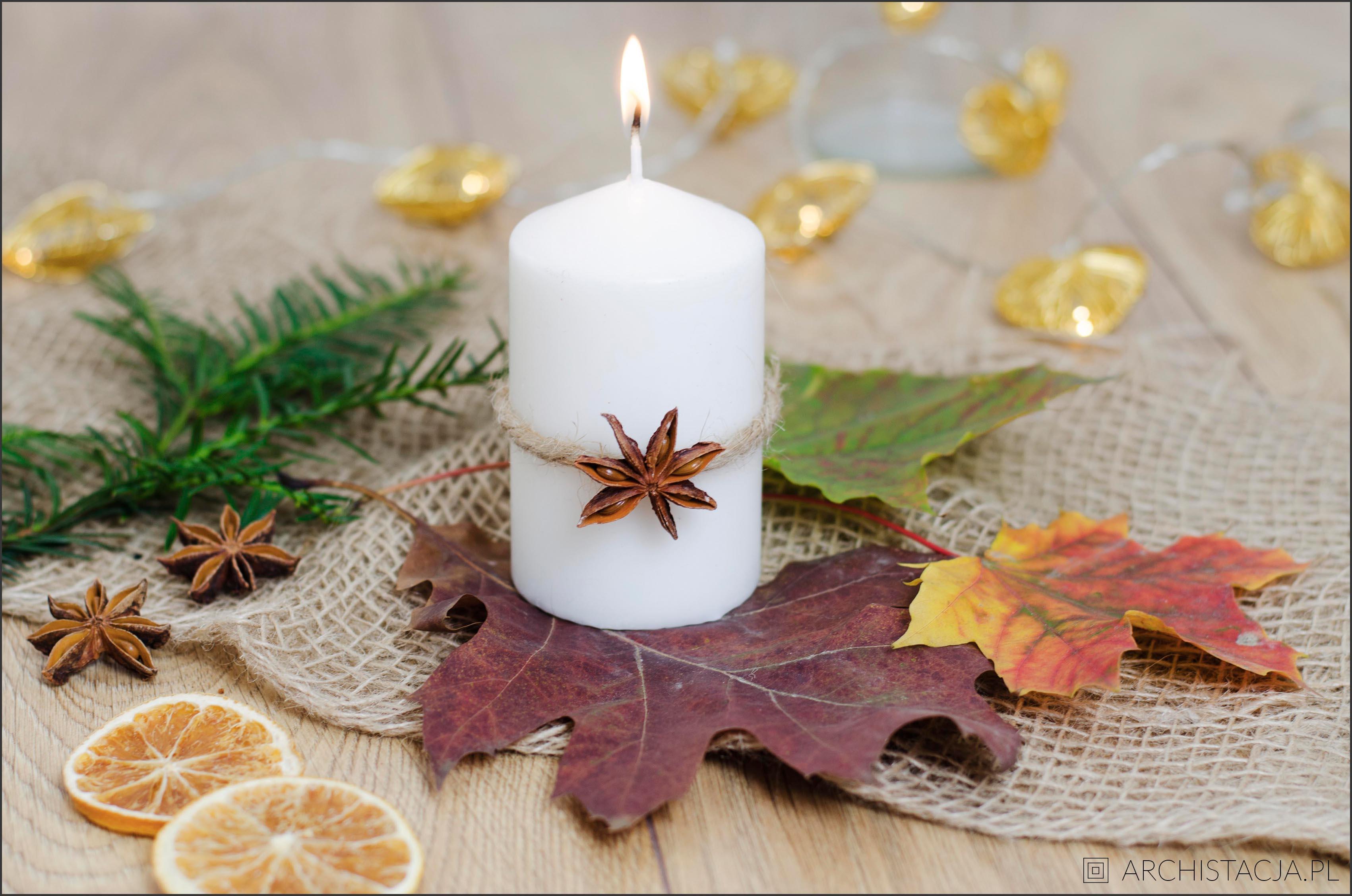 jesienne świece