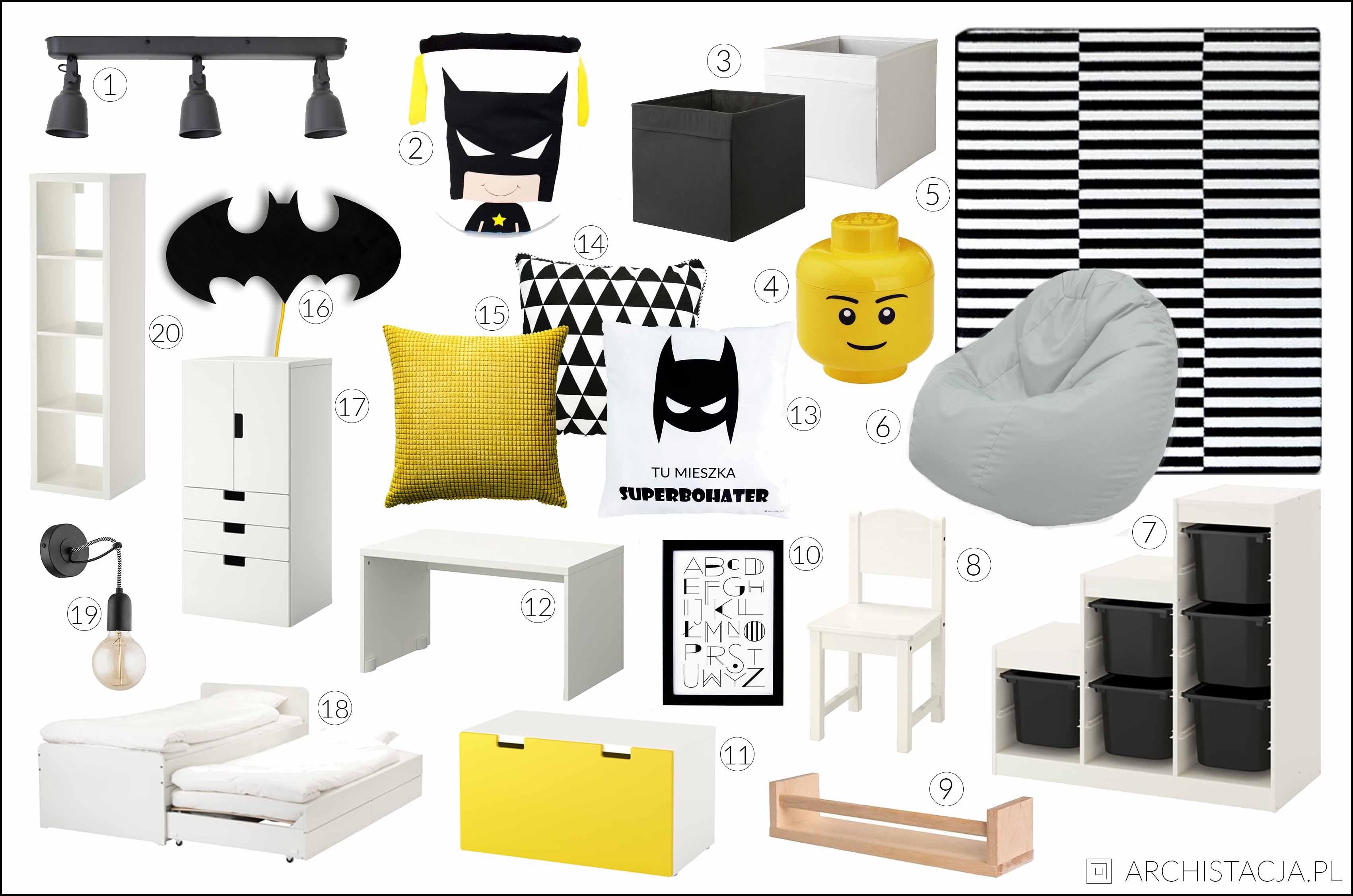pokój fana Batmana