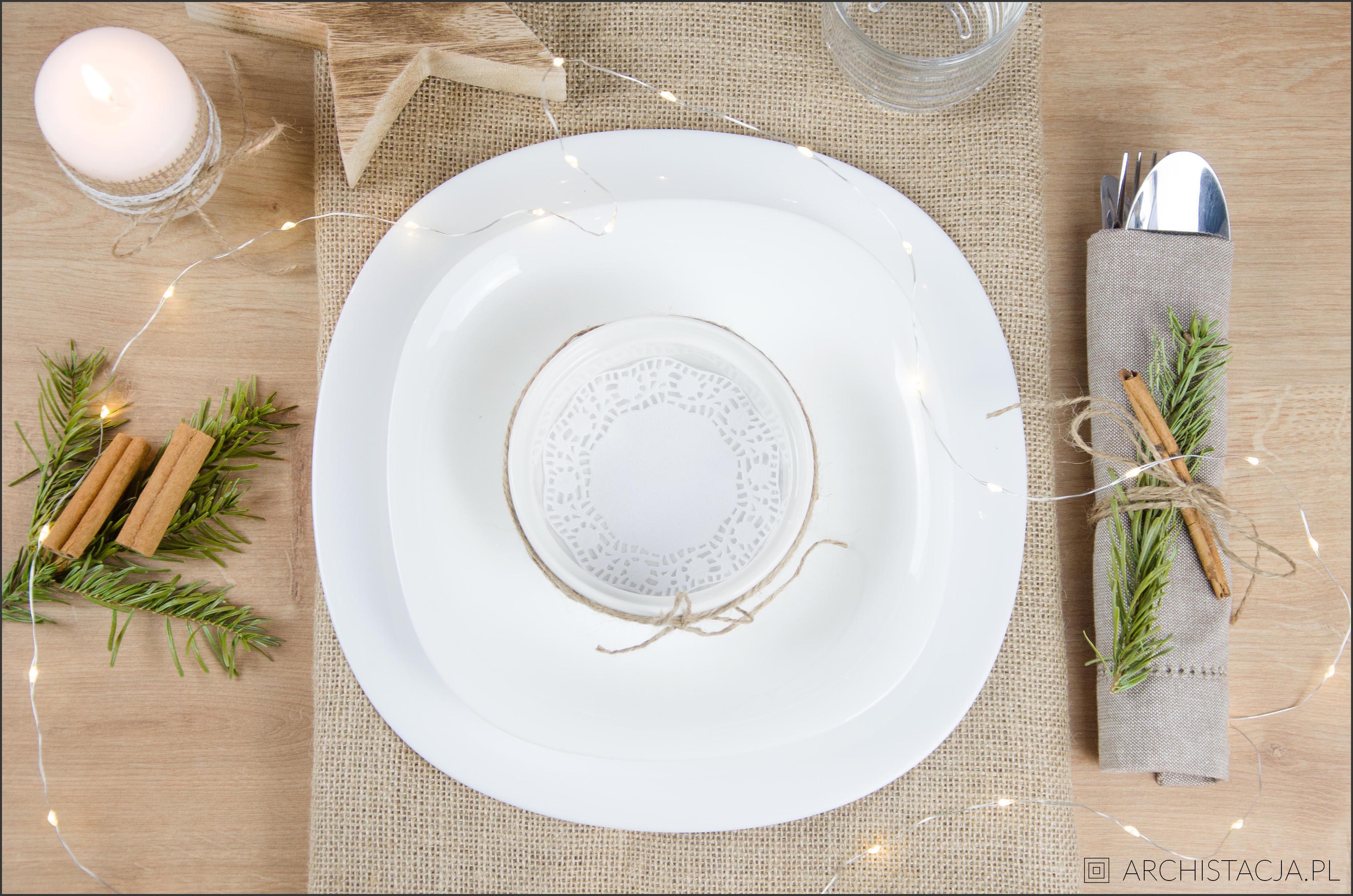 świąteczne nakrycie stołu