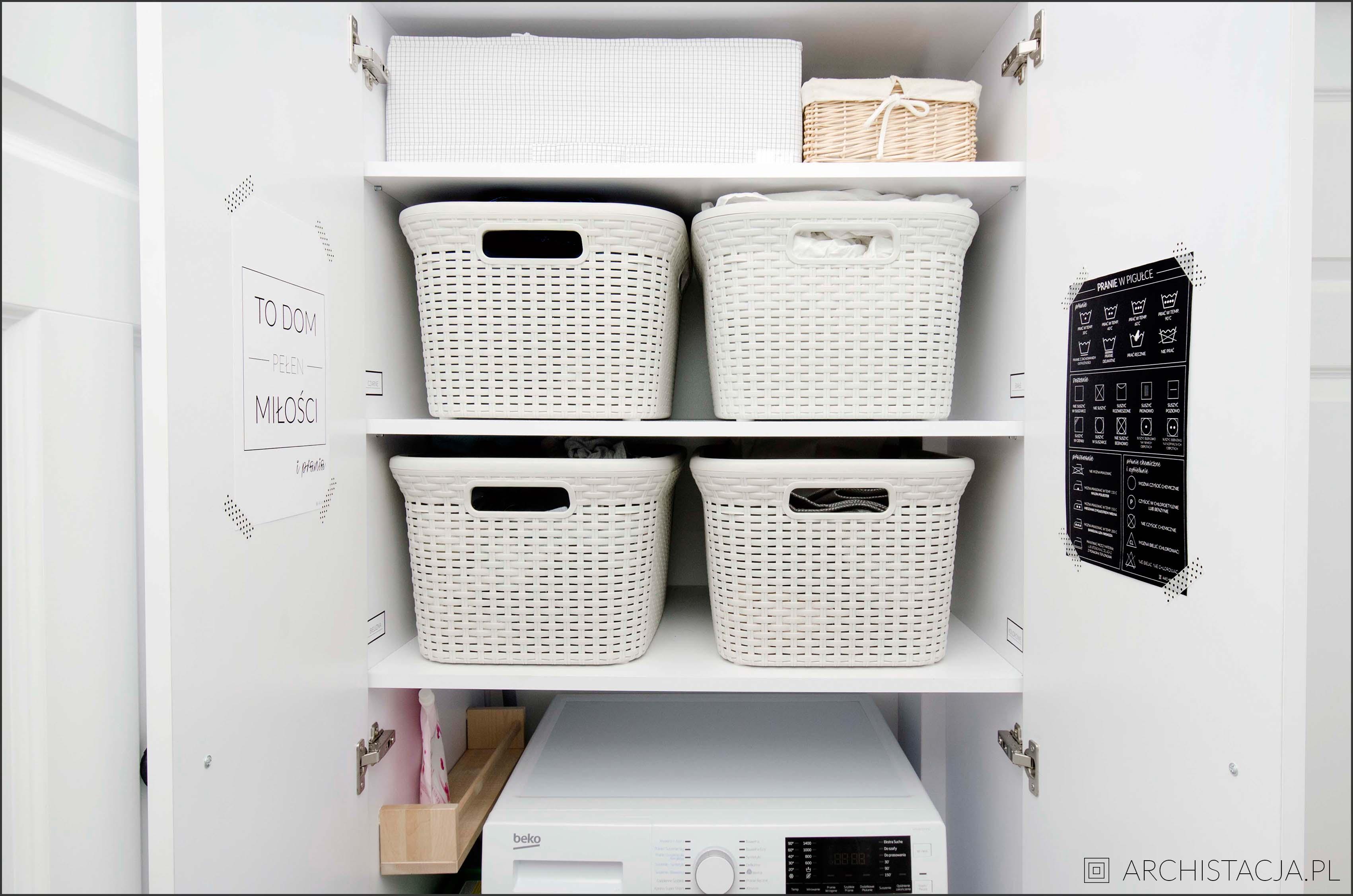 AKCJA ORGANIZACJA - moja mini pralnia | etykietki i plakaty do druku