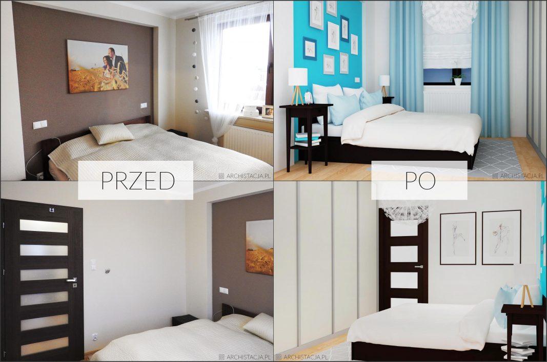 STACJA METAMORFOZA – beżowa sypialnia z nutką niebieskości #30
