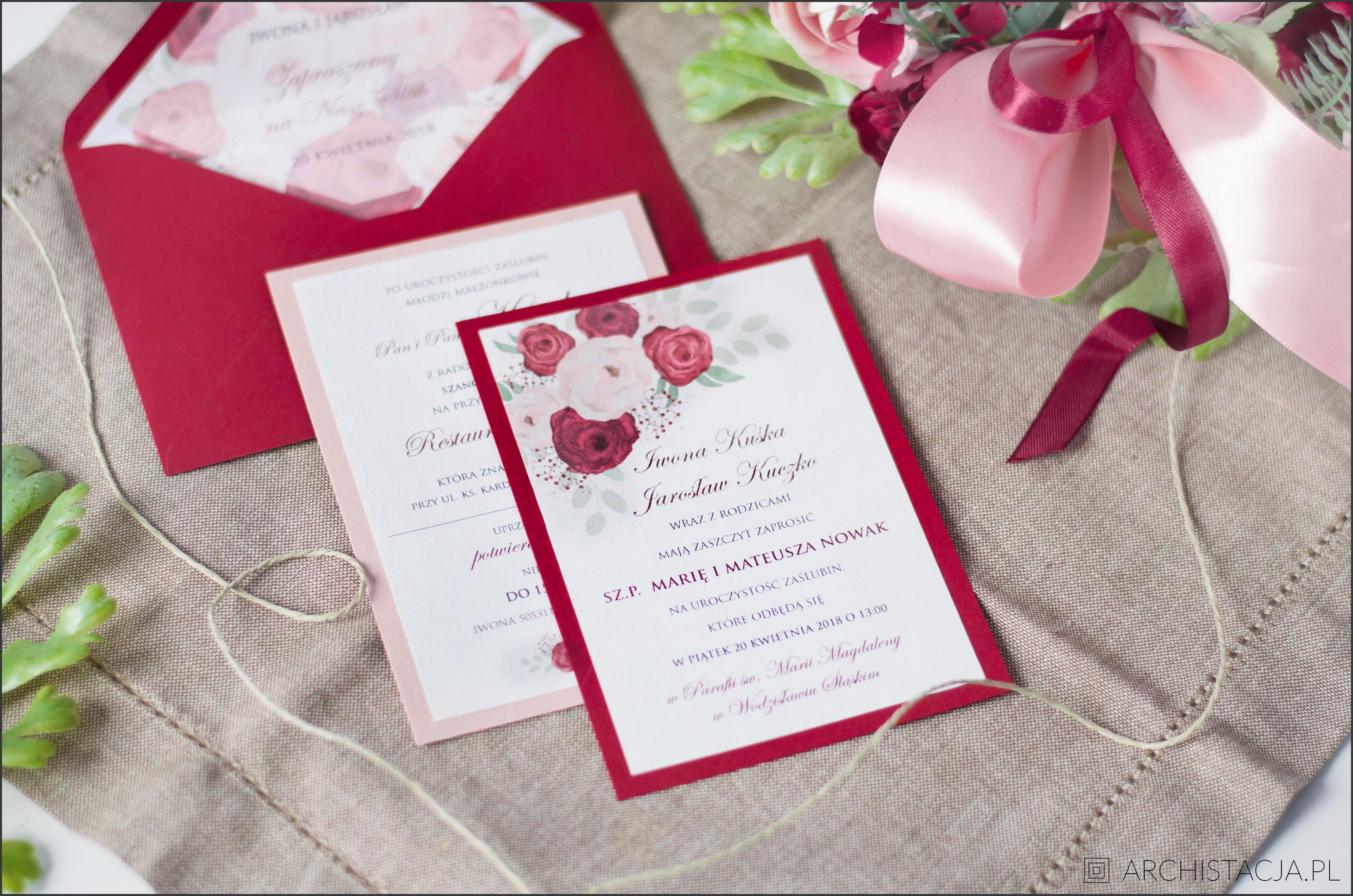 Zaproszenia ślubne Diy Archistacjapl