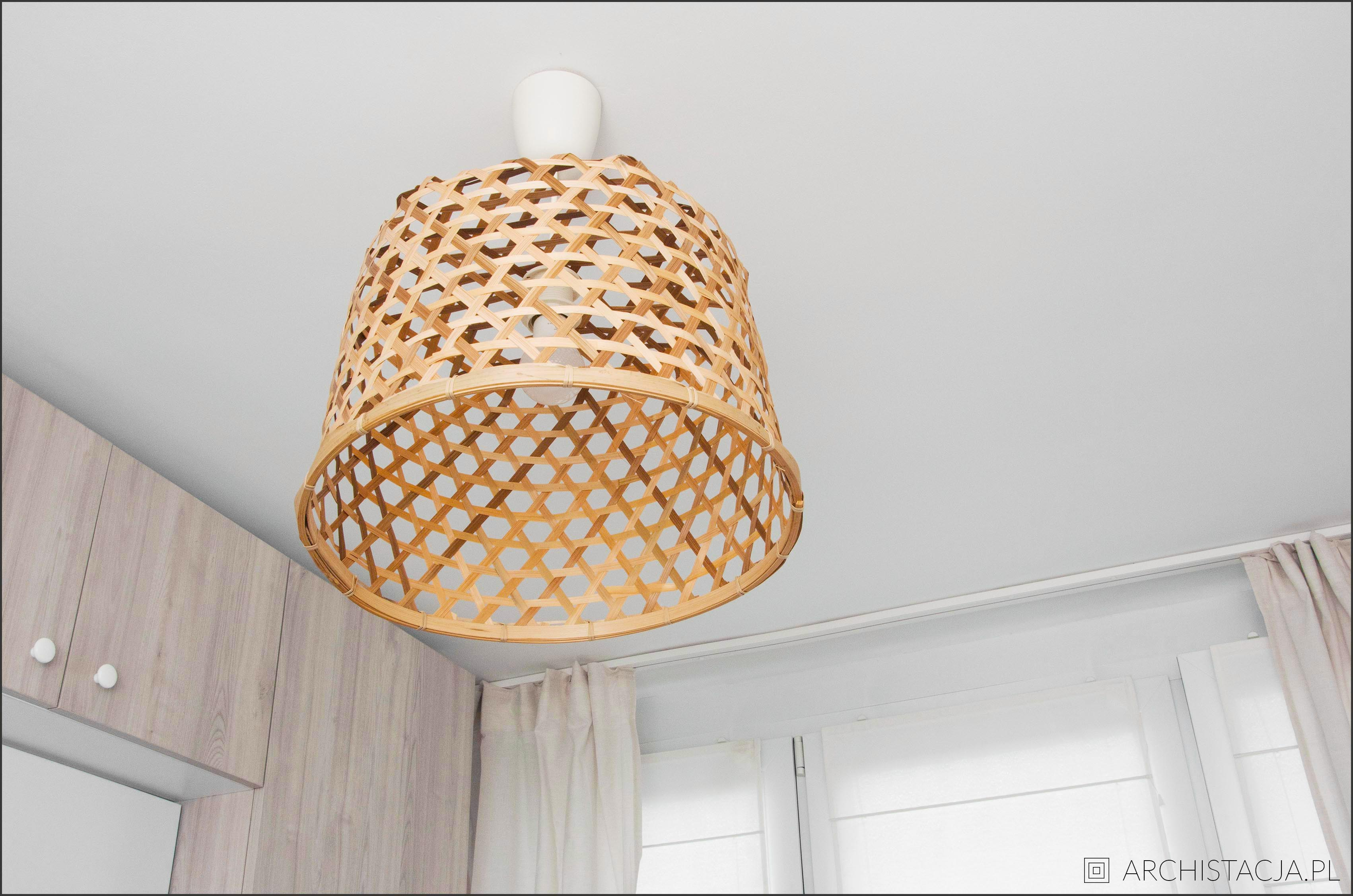 lampa z kosza