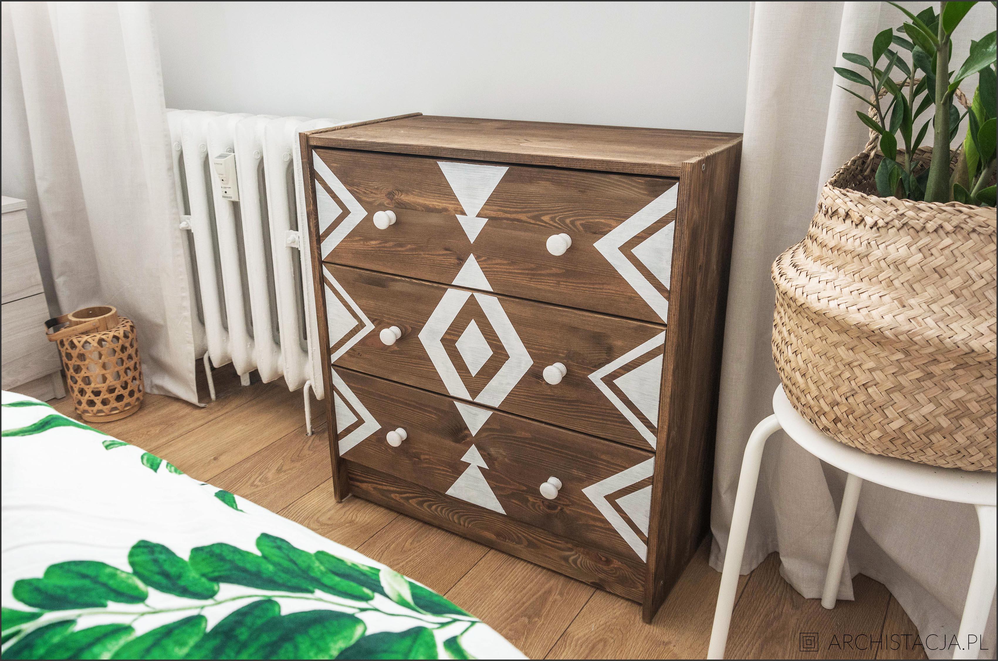IKEA HACK - Komoda Rast z azteckim wydaniu
