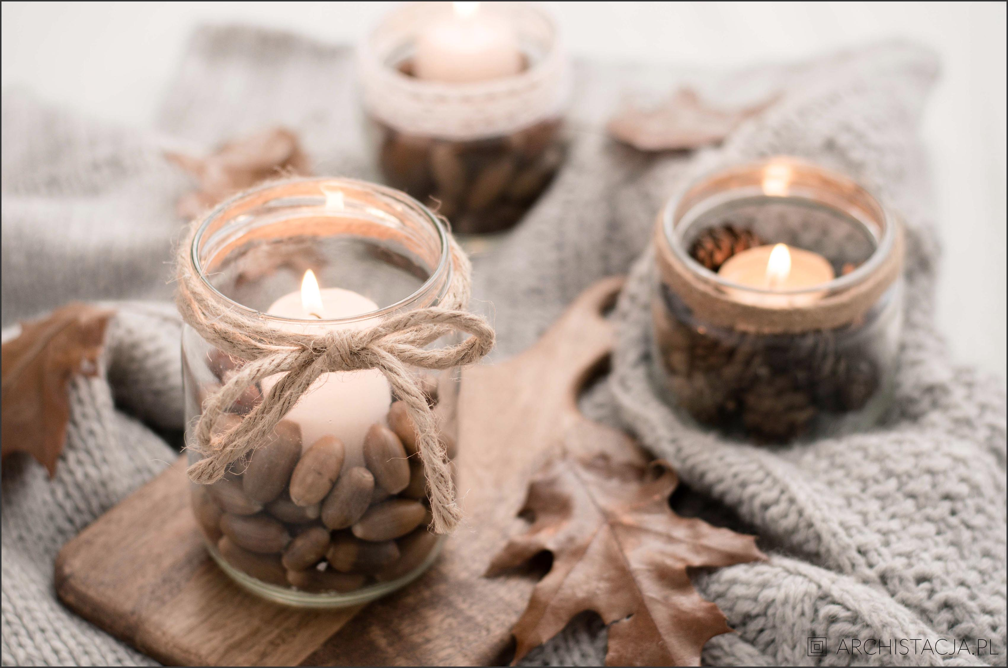 Najprostsze w świecie jesienne świeczniki