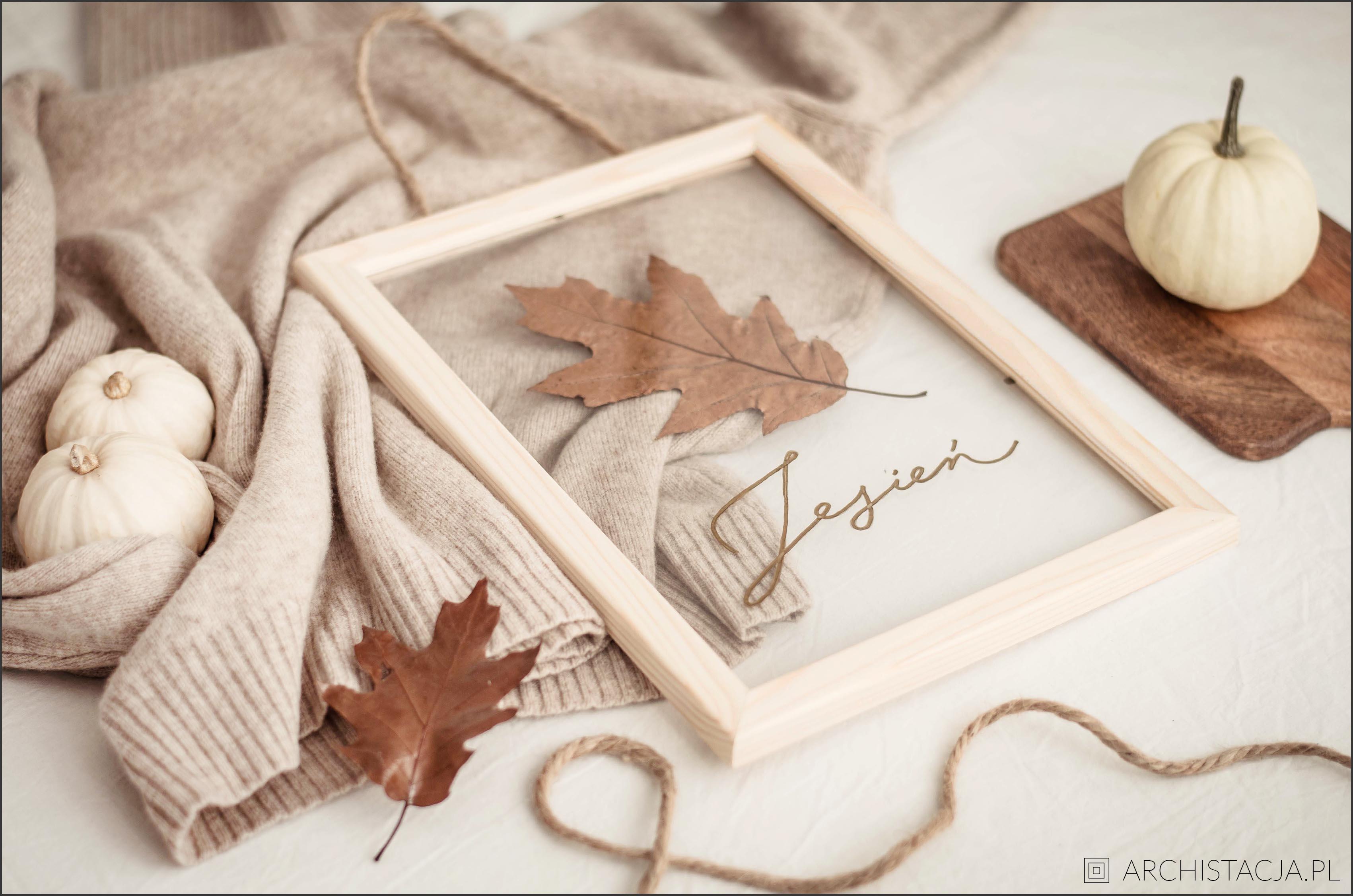 Jesienny obraz DIY