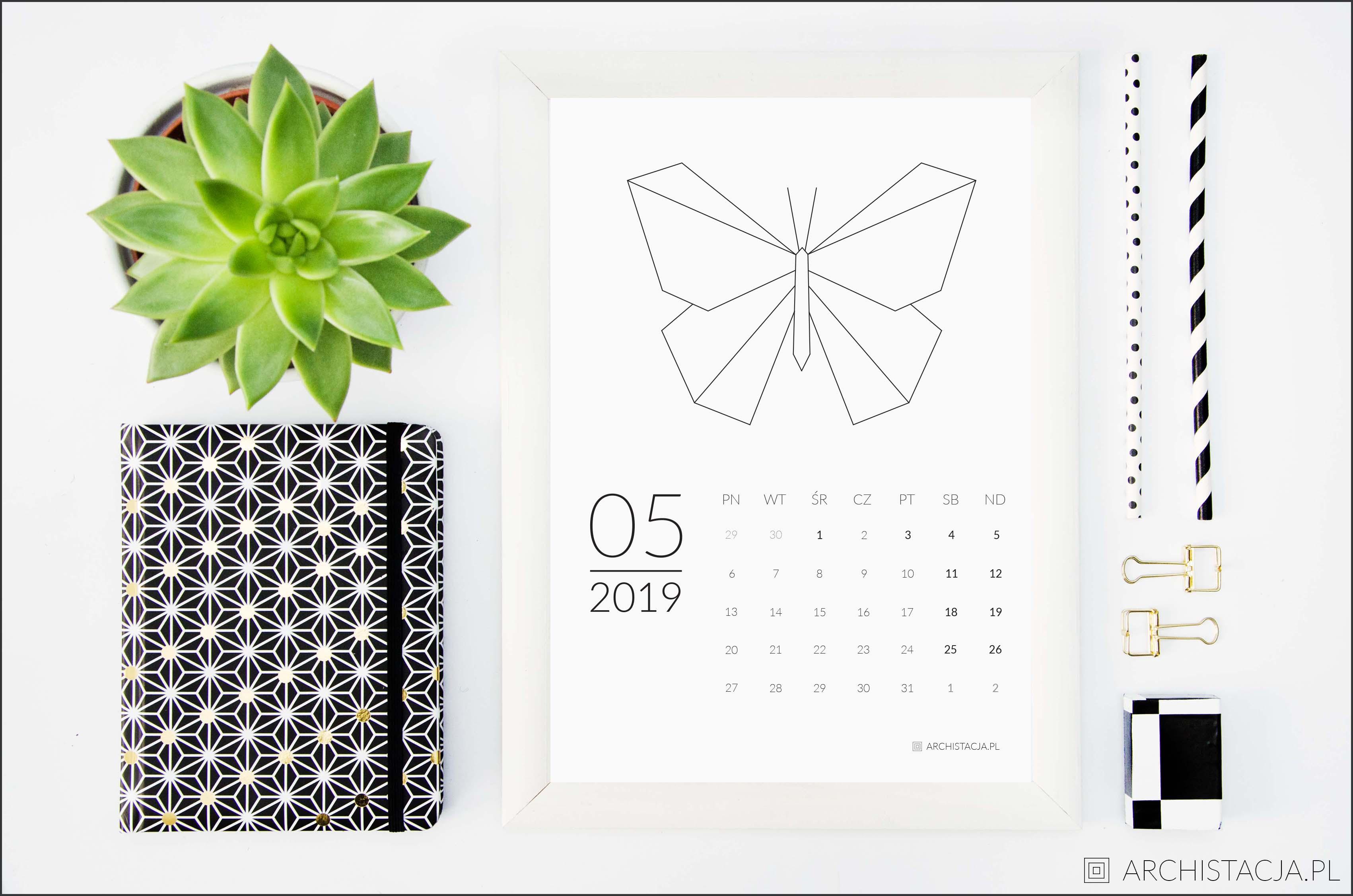 kalendarz na 2019