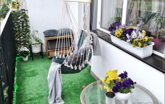 Hamak na balkonie Agnieszki z @zycie.w.plycie
